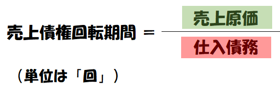 仕入債務回転率の式